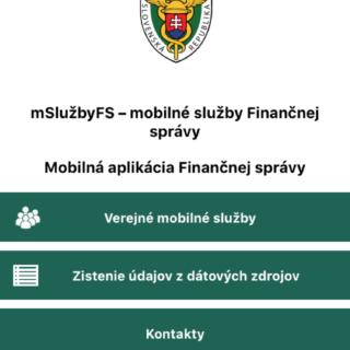 finančná správa app