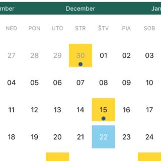 kalendár dane